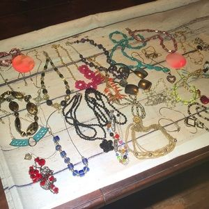Lot of 33 Necklaces Reseller Rescue Jewelry Lot